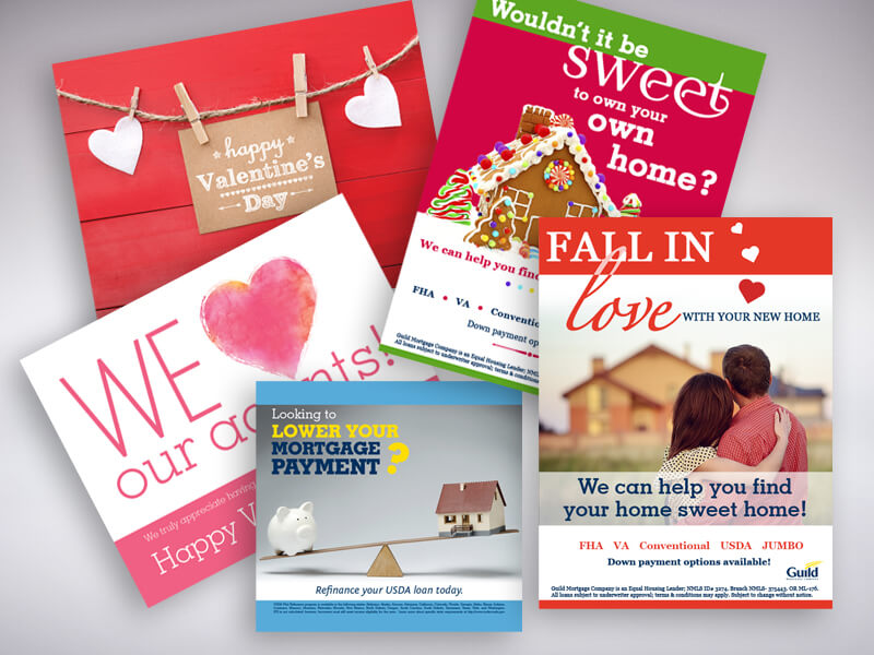Guild Mortgage Holiday Postcards