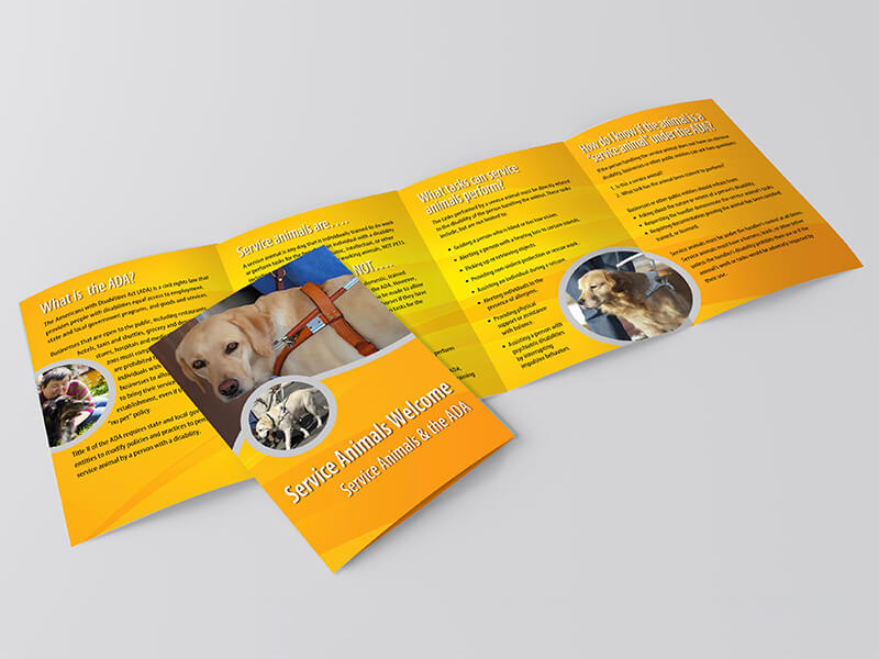 Pacific ADA Service Animal Brochure